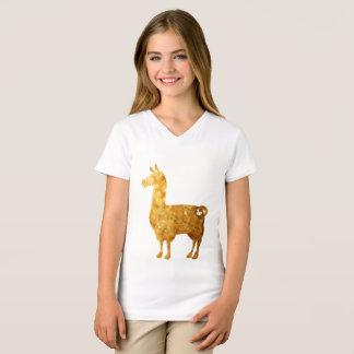 Le lama d'or badine le T-shirt