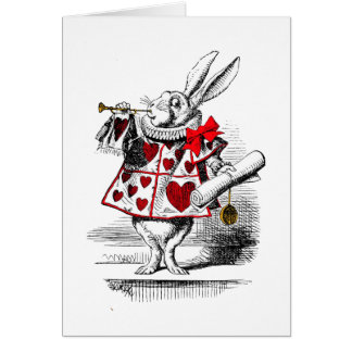 Le lapin blanc cartes