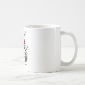 Le lapin blanc mug blanc
