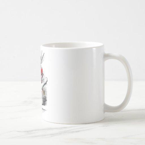 Le lapin blanc tasse à café