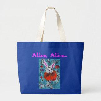 Le lapin d'Alice aux pays des merveilles Sac En Toile Jumbo