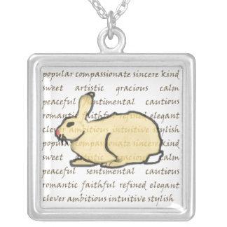 Le lapin de raffinage pendentif carré