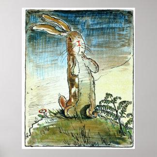 Le lapin de velventine - affiche posters