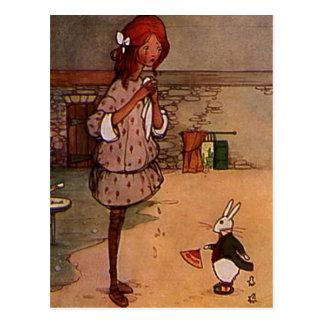 Le lapin fâché carte postale