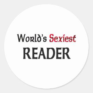 Le lecteur le plus sexy du monde autocollants