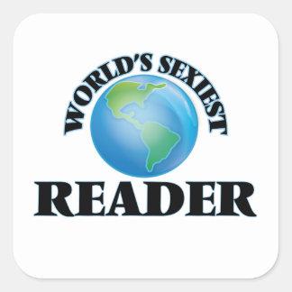 Le lecteur le plus sexy du monde sticker carré