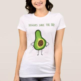 Le légume sauve le T-shirt de jour (avocat)