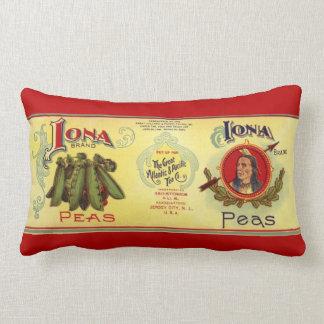 Le légume vintage peut marquer l'art, pois de oreiller