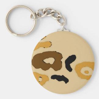 """Le """"léopard repère"""" l'art et la conception de porte-clé rond"""