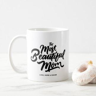 Le lettrage de main de maman le plus beau mug
