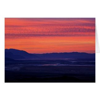 Le lever de soleil du diable carte de vœux