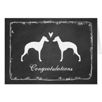 Le lévrier italien silhouette épouser Congrats Cartes