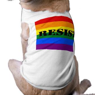 le lgbtq résistent t-shirt pour chien