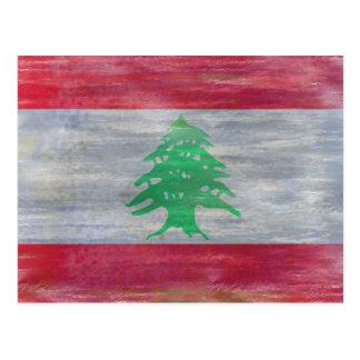 Le Liban a affligé le drapeau libanais Carte Postale