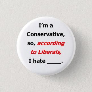 Le libéral se trouve badge nominatif