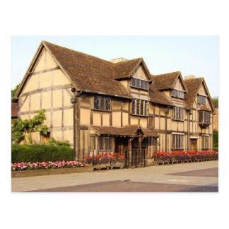 Le lieu de naissance de Shakespeare, Carte Postale