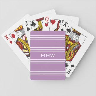 Le lilas barre les cartes de jeu faites sur jeux de cartes