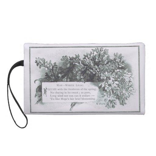 Le lilas blanc de Victoriana peut bracelet Dragonne