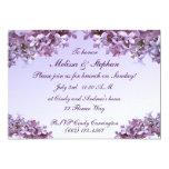 Le lilas floral fleurit le brunch de mariage carton d'invitation  12,7 cm x 17,78 cm