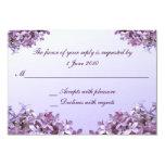 Le lilas floral fleurit le mariage de RSVP Carton D'invitation 8,89 Cm X 12,70 Cm
