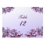 Le lilas floral fleurit le nombre de Tableau de Carte Postale
