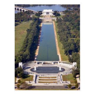 Le Lincoln Memorial et le mémorial de la deuxième Carte Postale