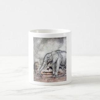 Le lion Jupiter et la tasse d'éléphant