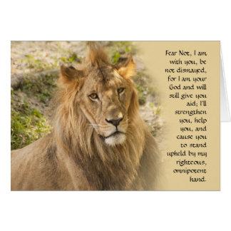 Le lion obtiennent la carte bonne