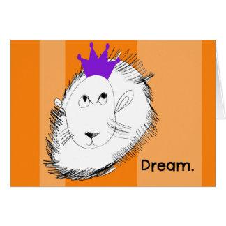 Le lion rêve le carte pour notes