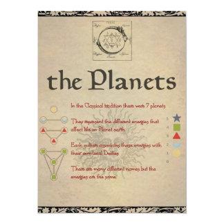 """Le livre de """"LUNA"""" de planètes de la page d'ombres Carton D'invitation 13,97 Cm X 19,05 Cm"""