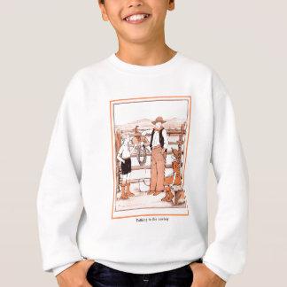 Le livre d'enfant vintage - parlant au cowboy sweatshirt