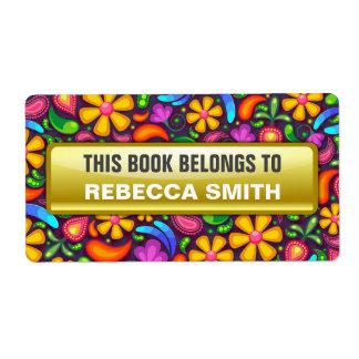 Le livre personnalisé marque | étiquette floral
