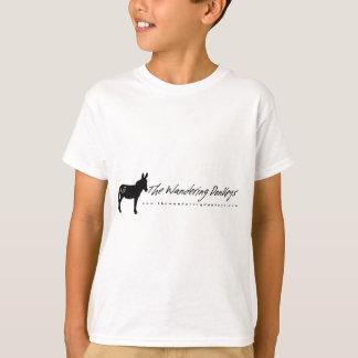 Le logo blanc errant d'ânes badine le T-shirt