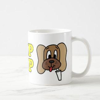Le logo buvez bruyamment et de Derp (3), jaune sur Mug