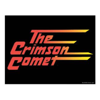 Le logo cramoisi de comète carte postale