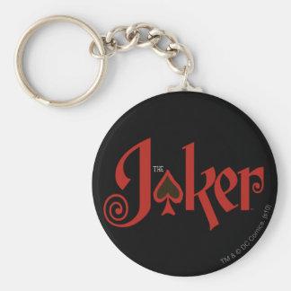 Le logo de carte de jeu de joker porte-clé rond