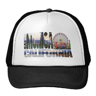 Le logo de Santa Monica fleurit la plage de pilier Casquettes De Camionneur