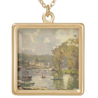 Le long de la Seine chez Meudon, c.1893 (huile sur Collier Plaqué Or