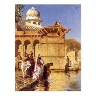 Le long du Ghats, Mathura par seigneur Weeks Carte Postale