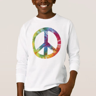 Le long tee - shirt gainé de paix de l'enfant t-shirt