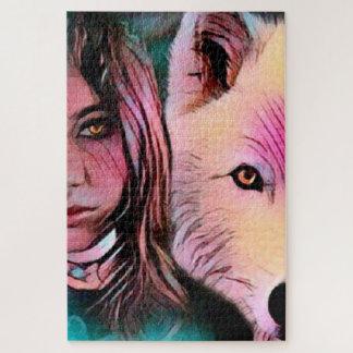 Le loup à l'intérieur du puzzle