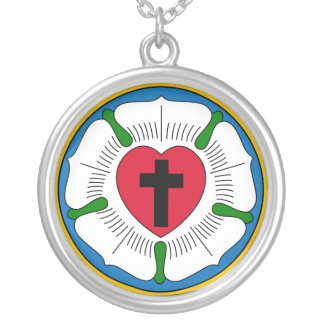 Le Lutheranism Martin Luther de rose de Luther Pendentif Rond