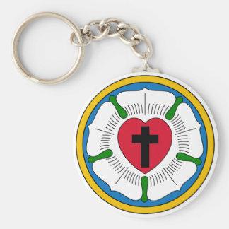 Le Lutheranism Martin Luther de rose de Luther Porte-clé Rond