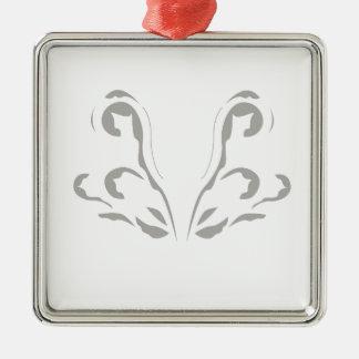 Le luxe ornemente le blanc gris ornement carré argenté