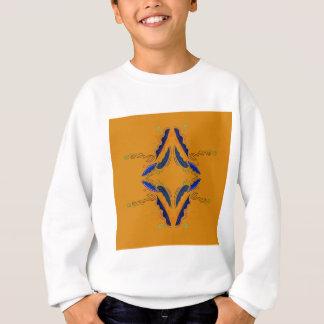 Le luxe ornemente le cru de bleu d'or sweatshirt