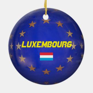 Le Luxembourg E.U. Christmas Ornament Ornement Rond En Céramique