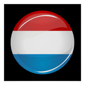 Le Luxembourg rond brillant diminuent Poster
