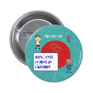 Le macaron de rond de l'autisme c'est d'Avril le m Badge
