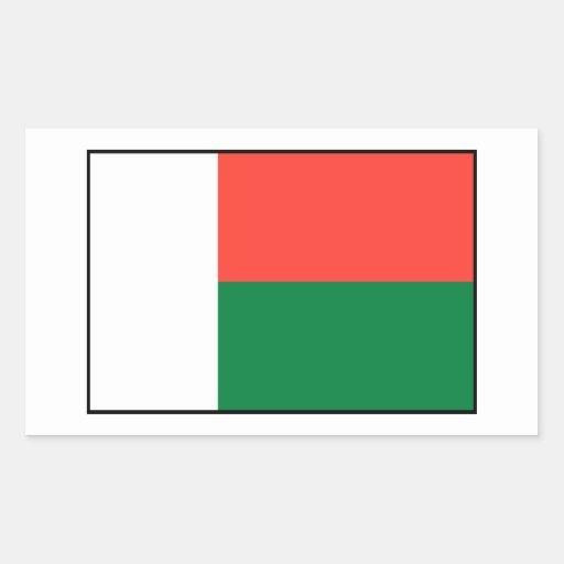 Le Madagascar - drapeau malgache Autocollants En Rectangle