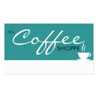 le magasin de CAFÉ (couleur personnalisable) Carte De Visite Standard
